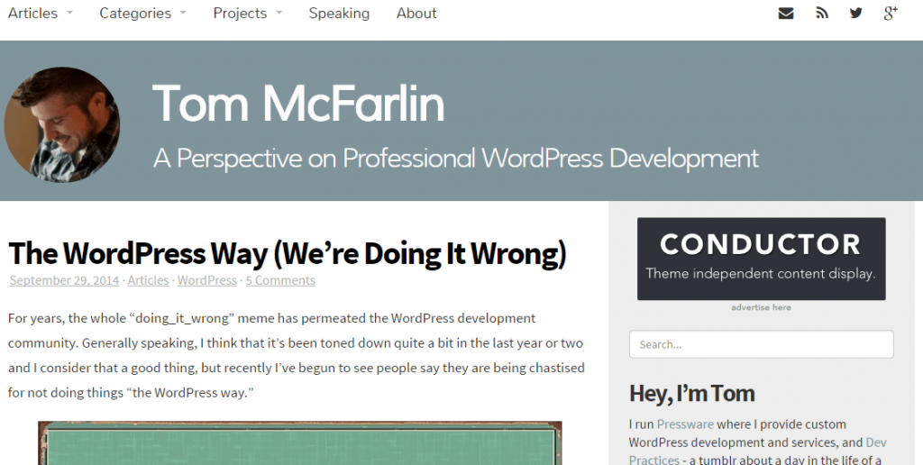 Learn to develop on WordPress 2 - Tom McFarlin