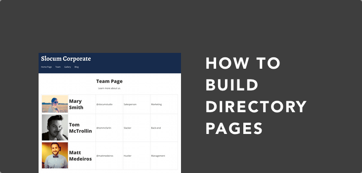 Easy WordPress Directory Pages